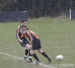 Kick off in the snow